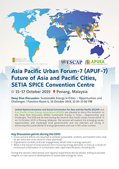 Asia Pacific Urban Forum-7 (APUF-7)