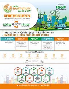 India Smart Utility Week 2019, 12-16 March 2019 in New Delhi, India
