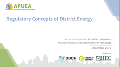 cover of regulatory concepts of district energy presentation